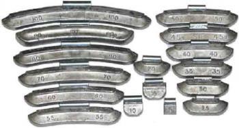 набор грузов для стальных дисков 80гр Clipper 0280