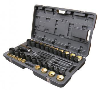 Набор оправок (с гидро приводом) для снятия и установки втулок рулевой сошки и саленблоков 49 предметов FORCE 949T1