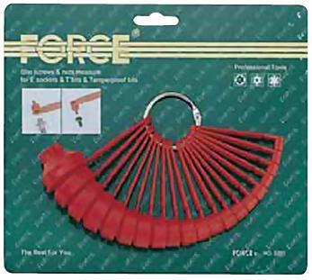 Набор шаблонов Torx 20 штук FORCE 5201
