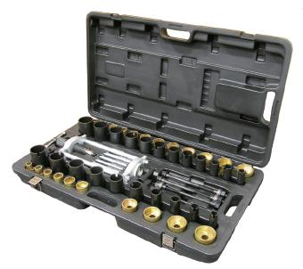 Набор оправок (с ручным приводом) для снят/установки  втулок рулевой сошки и саленблоков 50 предметов FORCE 950T1