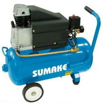 Компрессор поршневой с прямым приводом (ресивер 25 л., 220В) выход 230 л/мин. Sumake HD-2525A