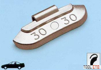 Упаковка грузиков по 10 гр. 100шт. для станд. дисков TECH S010