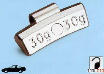 Упаковка грузиков по 5 гр. 100шт. для литых дисков TECH A005