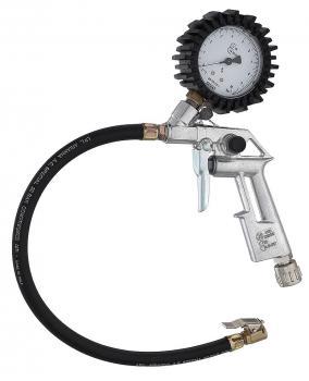 Пистолет для подкачки колес с ПРОФЕССИОНАЛЬНЫМ манометром WIKA боковой Gentilin S.R.L. GUN6