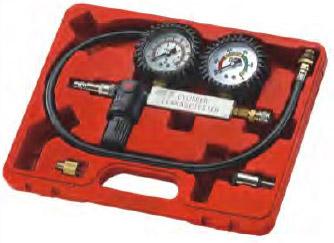 Набор для выявления утечек в цилиндрах, диапазон измерений 0-100PSI(0-700кПА) в кейсе JTC 4208