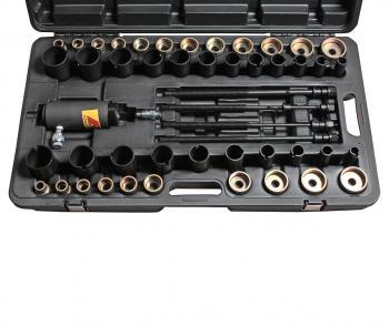 Набор съемников сайлентблоков универсальный с гидравлическим приводом 10т (в кейсе) JTC 4704
