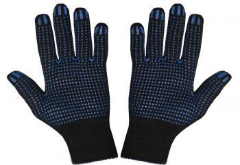 Перчатки ХБ 5-н ПВХ 10 класс черные ПРОТЕКТОР JTC TC-HBPB5
