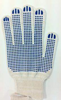 Перчатки ХБ 5-н ПВХ 10 класс белые ПРОТЕКТОР JTC TC-HBPW5