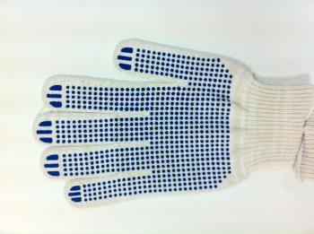 Перчатки ХБ 4-н ПВХ 10 класс белые ПРОТЕКТОР JTC TC-HBPW4