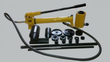 Гидравлический выпрессовщик сайлентблоков с ручным насосом (комплект) Россия ТТН-20