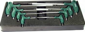 Комплект угловых шестигранников двусторонних с шаром 2-10 мм , 8 предметов (ложементы) JONNESWAY H10MB08ST